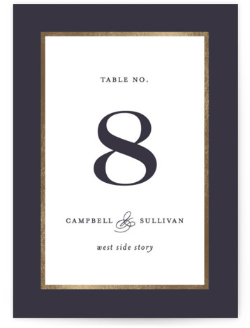 Prelude Foil-Pressed Table Numbers