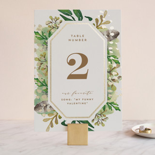 Bohemian Beauty Foil-Pressed Wedding Table Numbers