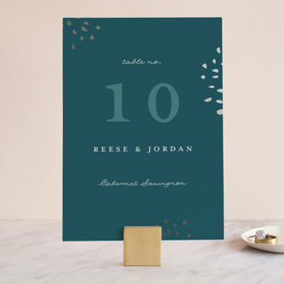 Modern Muse Foil-Pressed Wedding Table Numbers