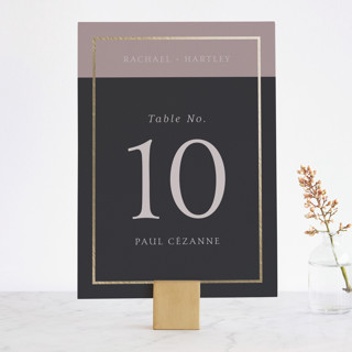 Mod Block Foil-Pressed Wedding Table Numbers