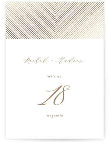 Forever One Foil-Pressed Table Numbers