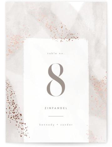Zara Foil-Pressed Table Numbers