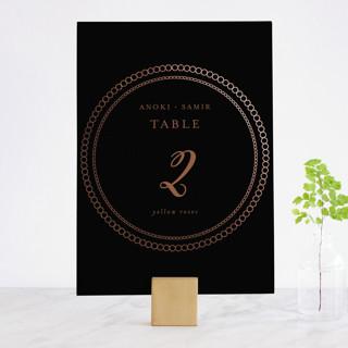 mandala Foil-Pressed Wedding Table Numbers