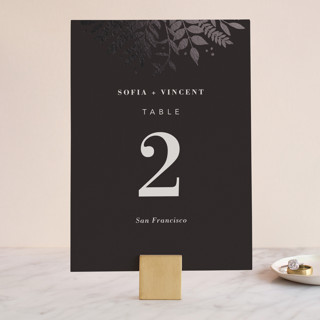 Garden Foil-Pressed Wedding Table Numbers