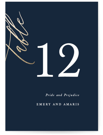 Ensemble Foil-Pressed Table Numbers