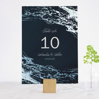 Classic Splash Foil-Pressed Wedding Table Numbers