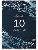 Classic Splash Foil-Pressed Wedding Table Numbers
