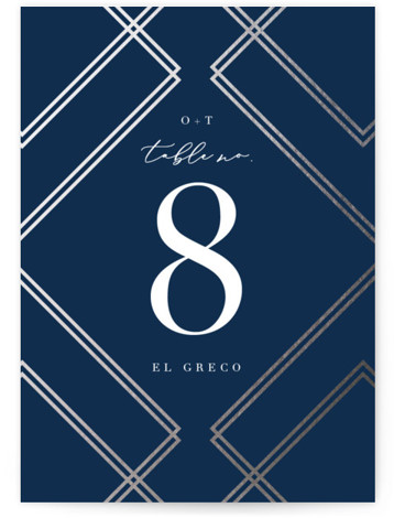 zigzag Foil-Pressed Table Numbers