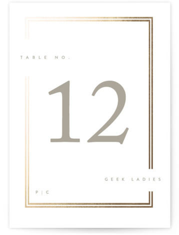 Cassis Foil-Pressed Table Numbers