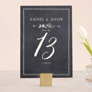 Alabaster Florals Wedding Table Numbers