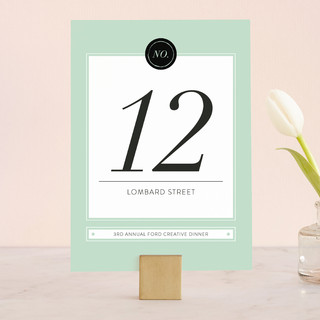 Modern Chic Wedding Table Numbers