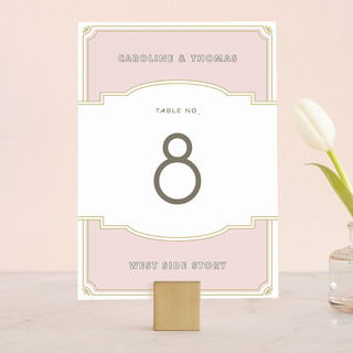 Modern Deco Wedding Table Numbers