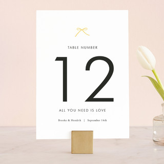 Sweet Boutique Wedding Table Numbers