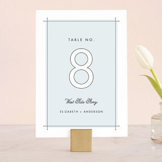 Me & You Wedding Table Numbers