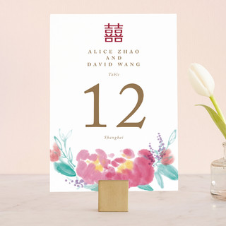 Chinese Traditional Wedding Table Numbers
