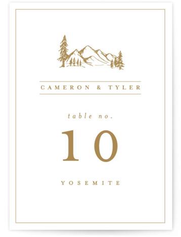 Blue Ridge Table Numbers