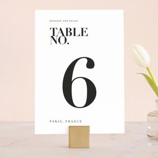 The Minimalist Wedding Table Numbers
