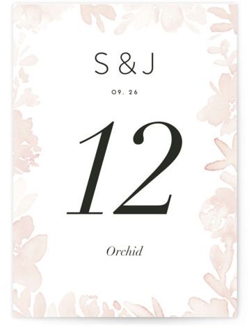 Ethereal Bouquet Table Numbers