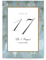 Something Blue Wedding Table Numbers