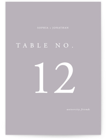 The Minimalist Table Numbers