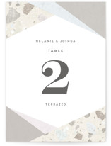 Terrazzo Frame Table Numbers