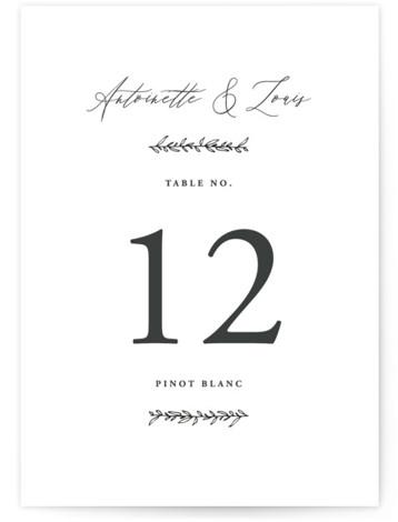 Antoinette Table Numbers