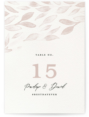 Inky Table Numbers