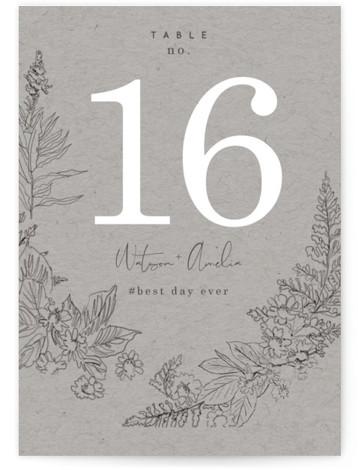 Floral Frame Sketch Table Numbers