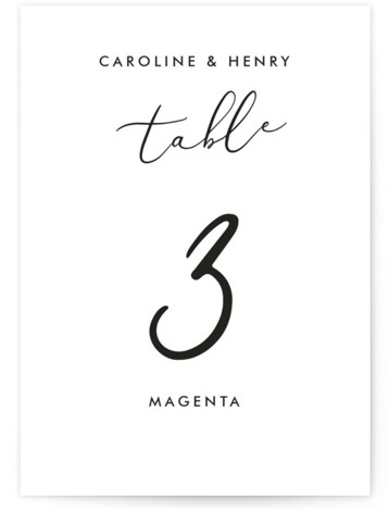 Scripted Romance Table Numbers