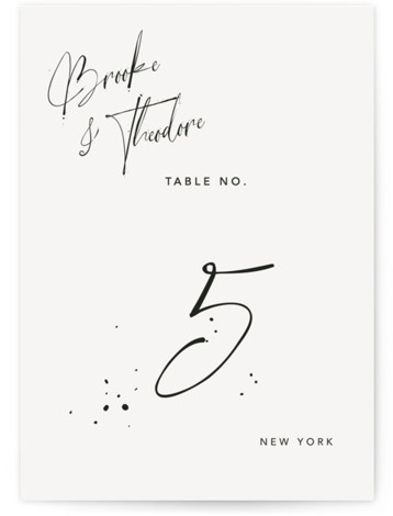 Signature Style Table Numbers