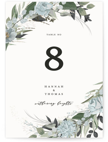 Ivory Ring Table Numbers
