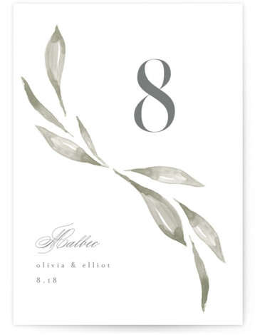Whispered Leaves Table Numbers