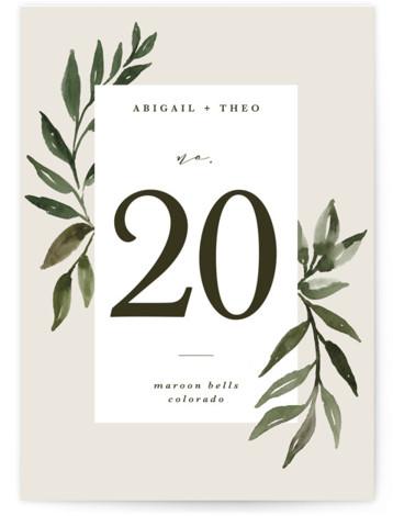 botanical portrait Table Numbers