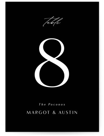 Margot Table Numbers