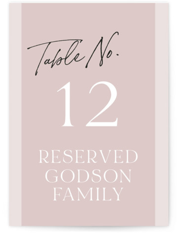 Marry You Table Numbers