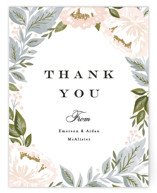 Peony Floral Frame Thank You Card