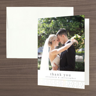 Geometric Pattern Gloss-Press™ Thank You Cards