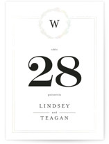 Little Wreath Gloss Press Table Numbers