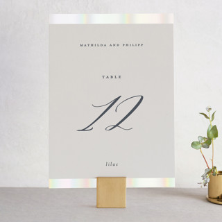 Dreaming of a white wedding Gloss-Press™ Table Numbers