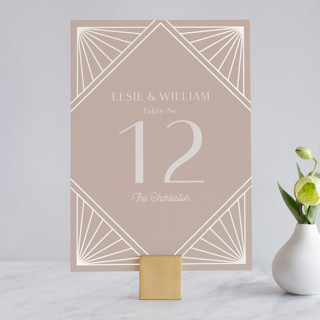 Radiant Frame Gloss-Press™ Table Numbers