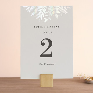 Garden Gloss-Press® Table Numbers
