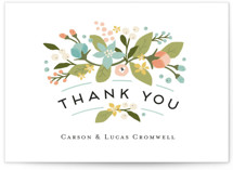 Floral Ampersand Thank You Postcards