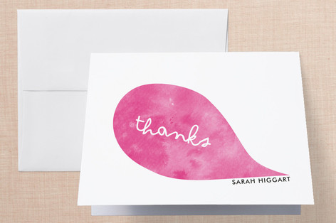 Think Pink Folded Thank You Card