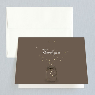 Fireflies Folded Thank You Card