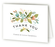 Floral Ampersand Folded Thank You Card