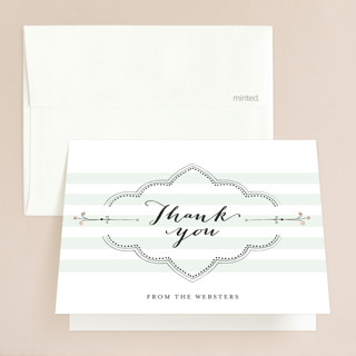 Striped Sweet Nothings Folded Thank You Card