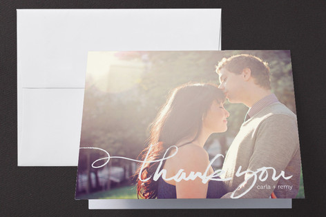 Quickly Penned Folded Thank You Card