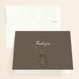 Fireflies Folded Thank You Card