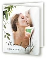Vines of Green Folded Thank You Card