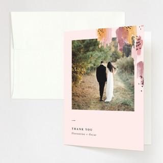 Mod Brush Folded Thank You Card